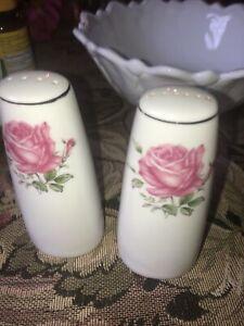 1 Vintage Imperial Rose Fine China 6702 Salt And Pepper Shakers Japan