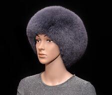 Selected Saga Furs Rare Gray Fox Fur Women's Cossack Winter Hat