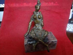 Very Fine Mid Century Abstract Art Modernist Brutalist Bronze Nude Sculpture