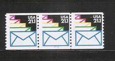 US SC # 2150 Envelopes, PNC 4 ,  Strip of 3 .  Mint Condition