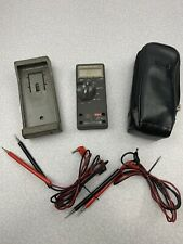 Fluke 77 Digital Multimeter Test Meter Tool With 2 Sets Of 4' Leads And Case DW