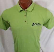 The Garden Factory Women's Embroidered Green Polo Shirt 100% Cotton L Large