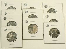 1973 to 2017 Canada  25 Cents Commemorative Lot of 10 Unc #3501