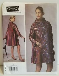 Vogue V1441 Designer Koos Van Den Akker Loose Fitting Coat Applique Sew Pattern