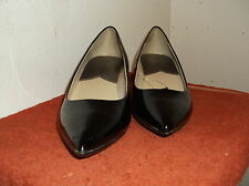"""NEW LADY'S """"GEORGE"""" BLACK  PUMP PATENT LEATHER LOOK   SHOES SIZE...9.0"""