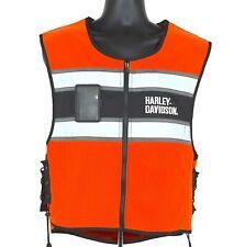 Harley Davidson Orange Reflective Safety Vest Adjustable S - L High Visibility