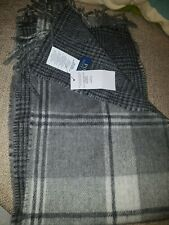 Ralph Lauren Mens Check Reversible pony Wool mix Scarf One Size BNWT