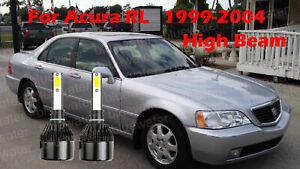 LED For Acura RL 1999-2004 Headlight Kit H1 6000K White CREE Bulbs HIGH Beam