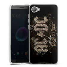 HTC Desire 12 Silikon Hülle Case handyhülle - ACDC Rock or Bust