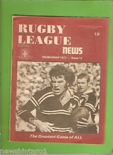 #RR. RUGBY LEAGUE NEWS  -  16-17/6/1973,  MANLY COVER