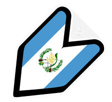 ## JDM DRIVER BADGE GUATEMALA GUATEMALAN Car Decal Flag not vinyl sticker ##