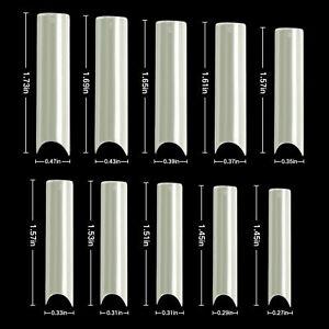 200/400PCS C Curve Half Cover Nail Tips Extra Long Square Tip Gel Acrylic Nails