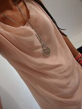 Seide Bluse M L 40 Neu Rosa Top Business Tunika Blogger Shirt Italy Trend C40