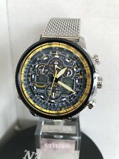 Citizen Men's Navihawk A-T Blue Angels Alarm Chronograph Radio Controlled Watch