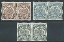 Transvaal 1885-93 Sc# 125/130/133 Coat of arms South Africa pairs MNH