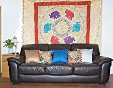 Indian Elephant Tapestry Wall hanging Patchwork Sequin Tapestries Hippie Mandala