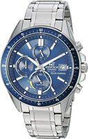 CASIO EFSS510D-2 Edifice Sapphire Solar Stainless Steel Silver Blue Mens Watch