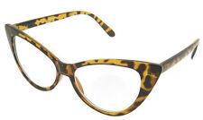 BROWN TORTOISESHELL CAT EYE Clear Lens Glasses Geek Nerd Style #1259 Cats Eyes