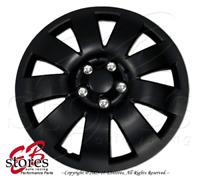 "Hubcaps Style#721 17"" Matte Black 4pcs Set 17 inch Rim Wheel Skin Cover Hub cap"