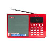 TECSUN ICR-110 (red) AM/FM RADIO, RECORDER & MP3 PLAYER << NO BATTERY >>