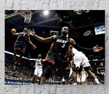 "DWAYNE WADE LEBRON JAMES Poster Picture Print 24x32"" MIAMI HEAT NBA BASKETBALL"
