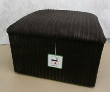 """Large Footstool With Storage In Black Jumbo Cord Size 20"""" x 20"""" x 14"""" High"""