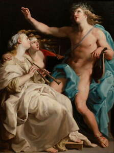 Pompeo Batoni Apollo and two Muses Giclee Art Paper Print Poster Reproduction
