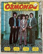 """Huge Osmond Pictorial Activity Album - 12.5"""" x 10"""" Early 1970s"""