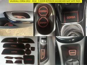 VAUXHALL OPEL CORSA 2015 - 2018 - 5 DOOR INTERIOR DASHBOARD MAT GATE PADS - RED