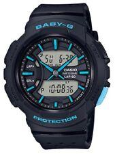 Casio Baby-G * BGA240-1A3 Runner Anadigi Black & Light Blue Watch for Women
