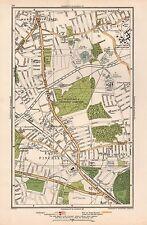 1933 London Map-Friern Barnet,North Finchley,East Finchley,Fortis Green