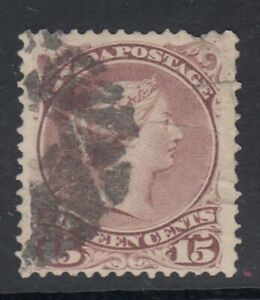 """# Canada Scott #29b  15 cent red lilac """"Large Queen"""""""