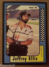 Maxx Collection Race Cards 1991 1990 Jeffery Ellis (Card #141 of 240)