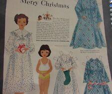 Betsy McCall Has A Merry Christmas Paper Doll Scarce Vhtf Original 1951 Nice