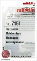 Märklin 7151 H0 escala 1:87 gomas locomotora Set 10x Rubber tires Bandages 5,8mm