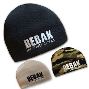 Beanie -Hat BEBAK Gym Wear MENS Walking  Blue Black Navy Stone ARMY CAMO