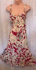 Women's Ladies Stunning Per Una Sun Dress Spring / Summer  Holiday Flare 14R