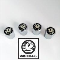 Chrome Vauxhall Black Wheel Valve Dust Caps. Corsa Antara Astra Insignia Adam