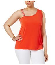 INC International Concepts Women's Plus Size One-Shoulder Rhinestone-Trim Top,1X