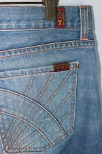 7 For All Mankind Size 30 Womens Jeans Light Fading Designer Pocket Jerome Dahan