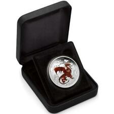 2012 Dragons of Legend Tuvalu $1 Pure Silver Coin - Red Welsh Dragon