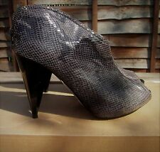 M & S LIMITED COLLECTION Brown Mix Faux Snake Skin Peep Toe Shoes Size 6