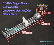 DC 5V 2-phase 4-wire Stepper Motor Linear Screw Nut Slider DIY Laser Engraving