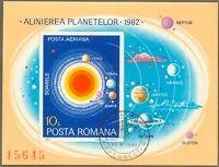 RUMÄNIEN 1981 VFU Block Planetenkonstellation im Jahr 1982, Raumfahrt ESST
