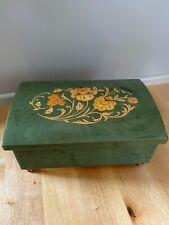 San Francisco Music Box Co. Rare Wood Inlay Sorrento, Italy Music/Jewelry Box