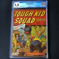Tough Kid Squad #1 (Timely 1942) 💥 CGC 1.5 OW 💥 Rare! Human Top & Flying Flame