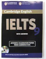 9 ESOL  STUDENT'S BOOK WITH ANSWERS AND MP 3 C D CAMBRIDGE OFFICIAL IELTS NEW