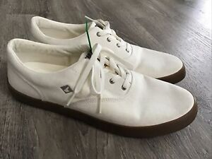 Sperry Top Sider Mens Wahoo Cvo Fasion Sneakers Beige Size 12 M STS14357