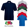 Fruit of the Loom MEN'S POLO SHIRT HEAVY COTTON SPORTS GOLF CAUSUAL SMART S-3XL