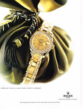 PUBLICITE ADVERTISING 094  1998  ROLEX  montre LADY DATEJUST CHRONO coll OR
